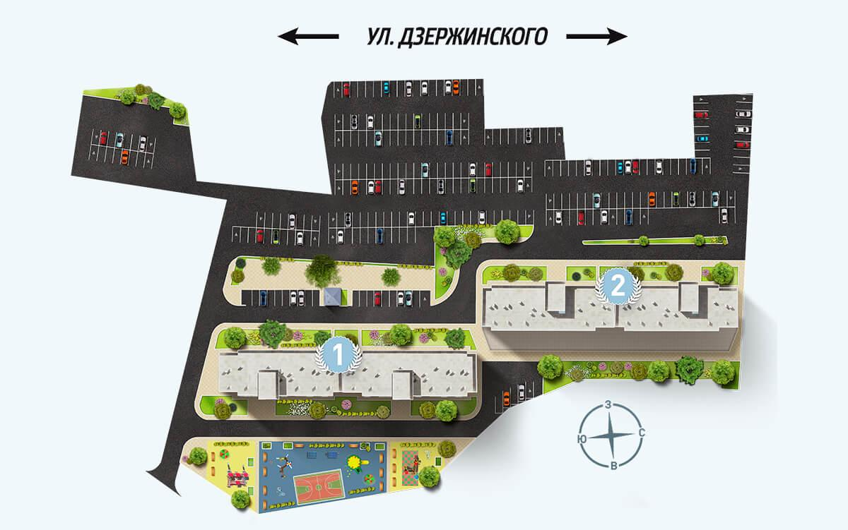 Генеральный план ЖК «Олимпийский»